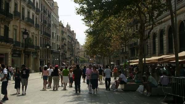 Calle Portal del Ángel, en Barcelona