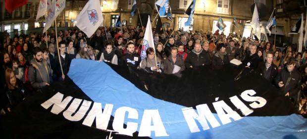 Protesta del colectivo 'Nunca máis'
