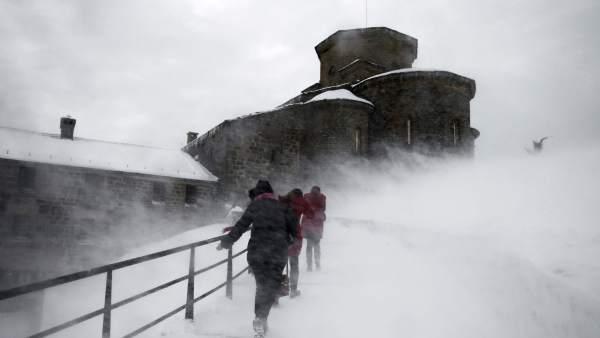 Temporal de nieve en Navarra