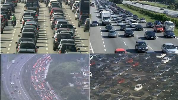 Atasco récord en Sao Paulo