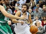 Ricky Rubio, contra los Celtics
