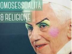 Joseph Ratzinger, maquillado en un cartel
