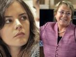 Camila Vallejo y Michelle Bachelet