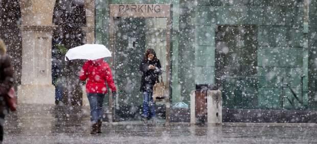 Nevando en Teruel