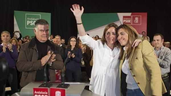Chacón y Díaz, juntas en Sevilla.