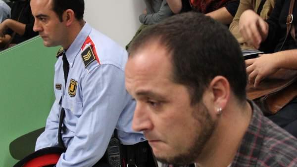 El sargento de los Mossos y David Fernández, en el juicio