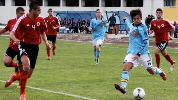 Oliver Torres con la sub-21 ante Albania
