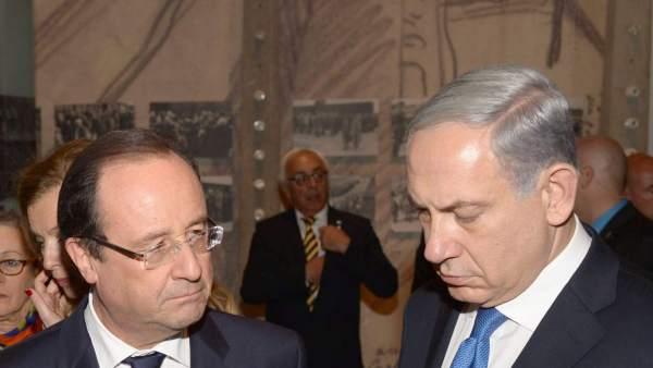 Netanyahu y Hollande