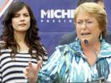Michelle Bachelet y Camila Vallejo