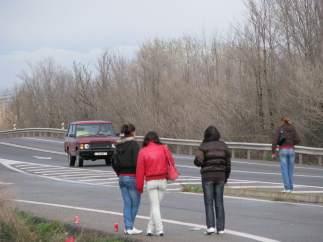 Prostitutas en una carretera