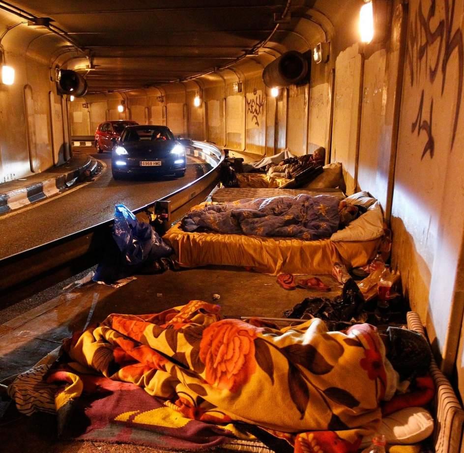 'Sin techo' en Madrid
