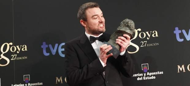 Esteban Crespo, con el Goya al mejor corto