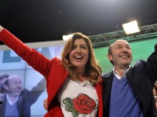 Rubalcaba y Susana Díaz