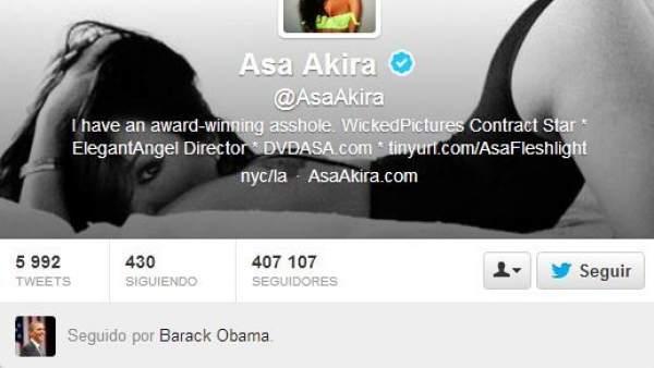 Barack Obama y sus actrices porno en Twitter
