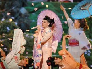 Actuación de Katy Perry