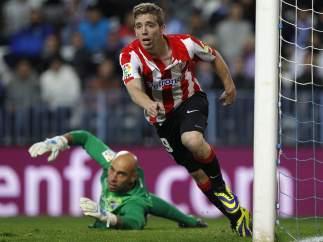 Muniain celebra el gol de la victoria en el Málaga-Athletic
