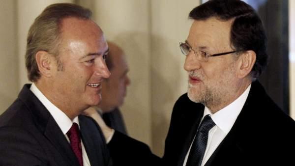 Rajoy y Alberto Fabra