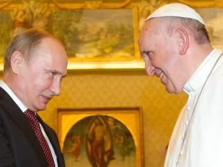 Putin, con el papa Francisco
