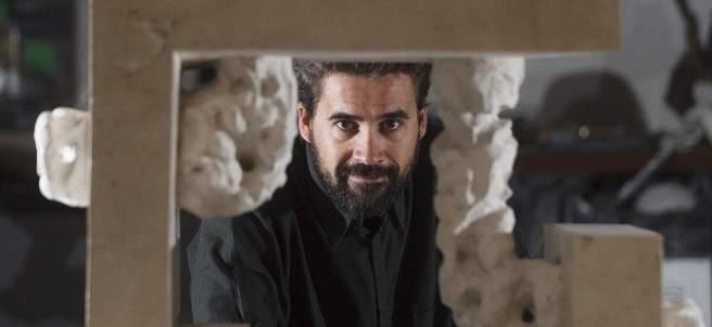 Alberto García, en su taller de Montemayor de Pililla (Valladolid).
