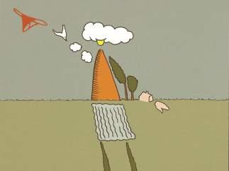 Ilustración de Carlos Pan para la pregunta del millón de 'El mensual de 20minutos' de diciembre: Si pudieras volverte invisible, ¿dónde te colarías?