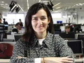 Ángeles González Sinde en la redacción de 20minutos.