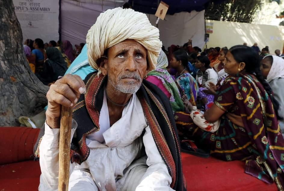 Los pensionistas se manifiestan en la India