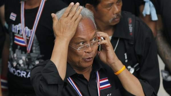 El líder de las protestas de Tailandia Suthep Thaugsuban