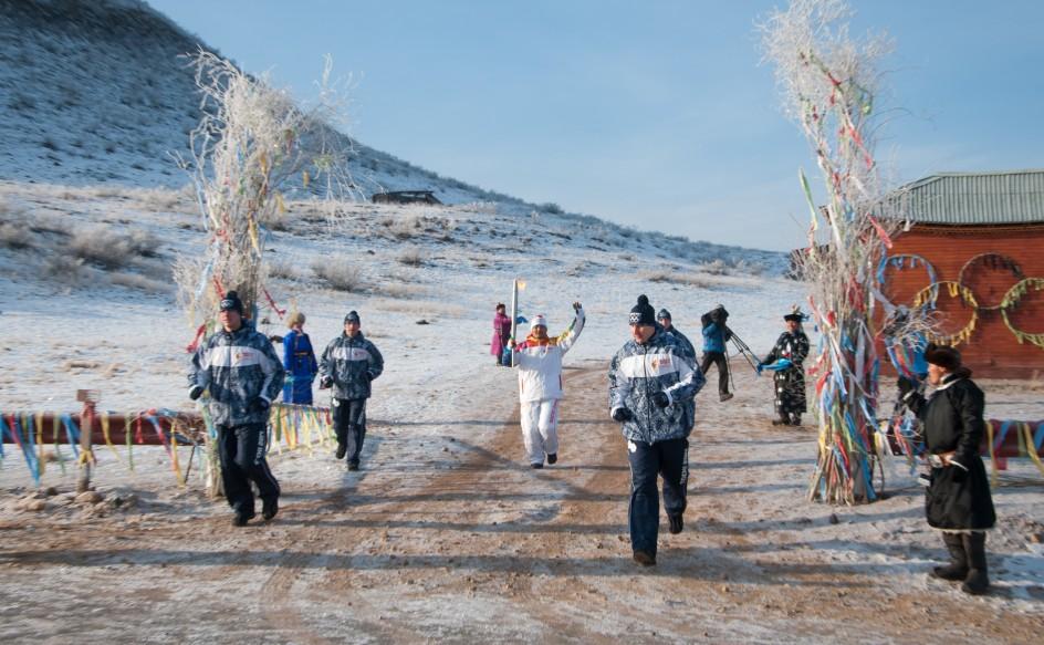 La antorcha olímpica llega a Siberia