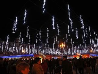Iluminación navideña en la Plaza Mayor