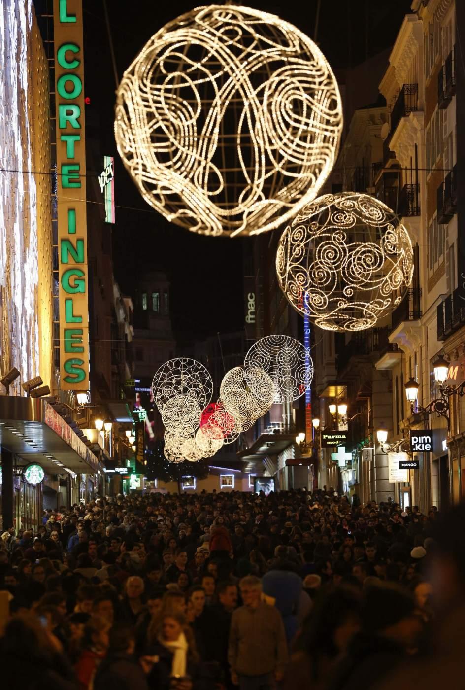 La Calle Preciados Brillante En Navidad 20minutos Es