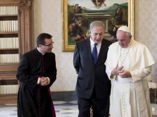 Netanyahu y el papa Francisco, en el Vaticano.