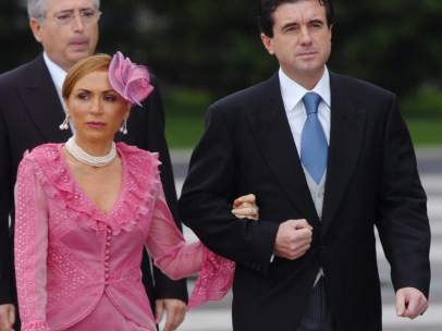 Jaume Matas y su esposa, Maite Areal