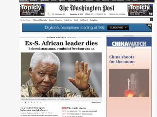 Muerte de Mandela en el Washington Post