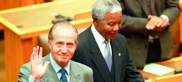 Mandela, junto al Rey.