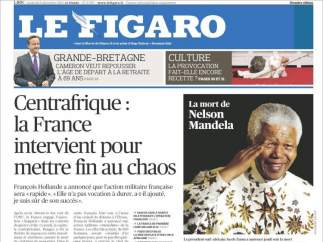 'Le Figaro', con la muerte de Mandela