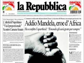 La muerte de Mandela en 'La Repubblica'