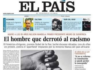 La muerte de Mandela en 'El País'