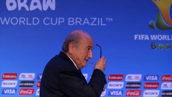 Blatter en el sorteo del Mundial