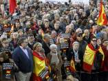 Un momento de la concentración en Madrid