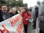 Protesta de funcionarios en Grecia