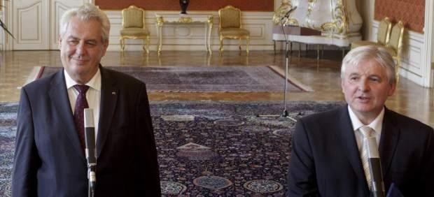 Milos Zeman y Jiri Rusnok