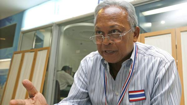 Líder de las protestas en Tailandia