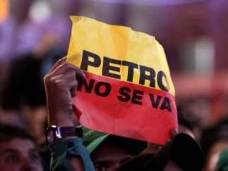 Protestas en Bogotá por la destitución de Petro