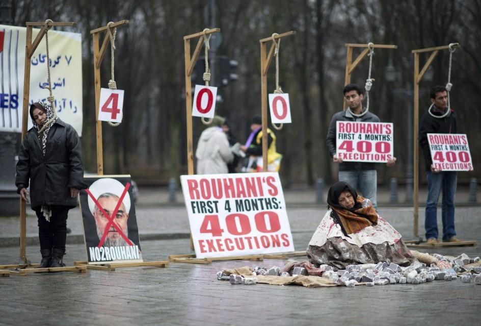 Protestas contra Irán en Berlín