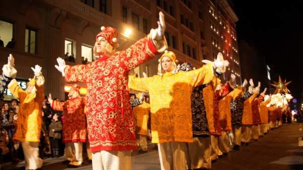 Cavalcada de Reis del passat 2012 a Barcelona.