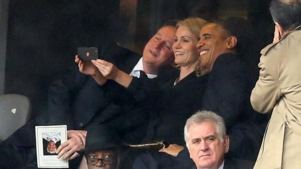 'Selfie' en el funeral de Mandela
