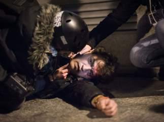Un herido en el centro de Madrid