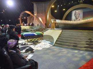 El escenario del funeral de Estado