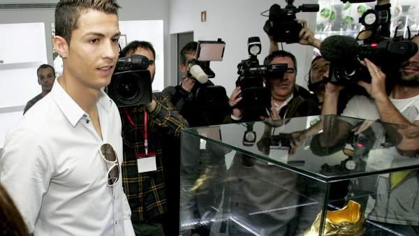 Cristiano Ronaldo, en la inauguración de su museo
