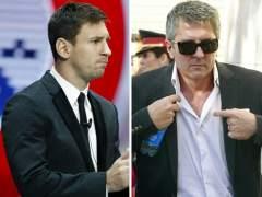 Leo Messi y su padre Jorge